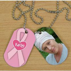 Breast Cancer Photo Dog Tag