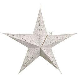 Embroidered Spirals Paper Star Lantern
