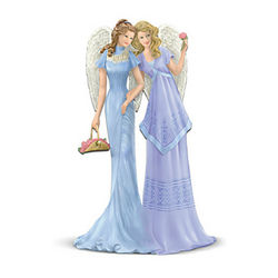 Thomas Kinkade Sisterly Love Angels Figurine