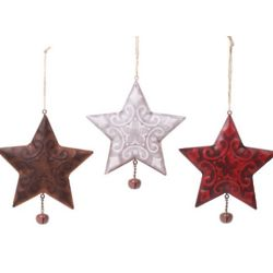 Metal Star Ornaments with Bells