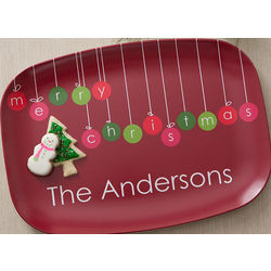 Christmas Ornaments Personalized Platter