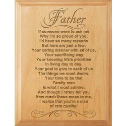 Quality Man Wooden Plaque for Father