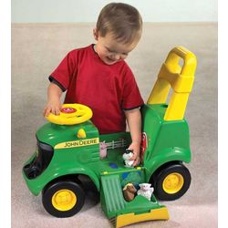 John Deere Sit-N-Scoot Activity Tractor with Sound and Figures
