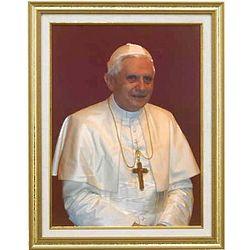 Pope Benedict XVI Portrait Framed Print
