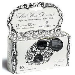 Love Bird Damask Disposable Camera