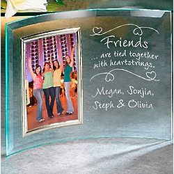 Large Personalized Friends Heartstrings Beveled Frame