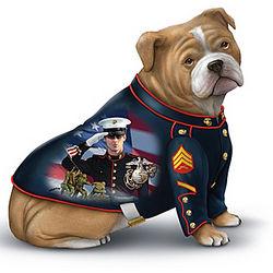 US Marine Corps Semper Fi Salute Bulldog Figurine