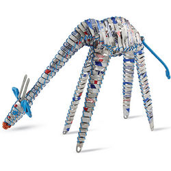 Blue Pepsi Cans Giraffe Sculpture