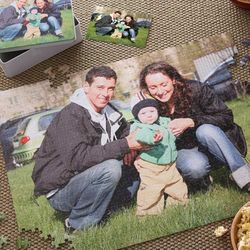 Personalized Jumbo Photo Puzzle and Tin