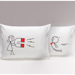 You're Irresistible His & Hers Matching Couple Pillowcases