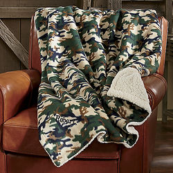 Personalized Camo Throw Blanket