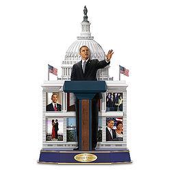 Barack Obama Legacy of a Leader Speaking Sculpture