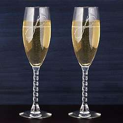 Tie the Knot Personalized Champagne Flutes