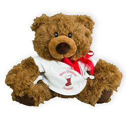 Personalized Merry Christmas Coco Teddy Bear