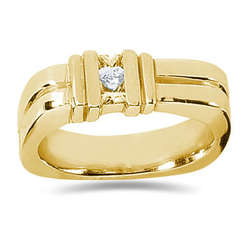 0.34 ctw Men's Diamond Ring in 18K Yellow Gold