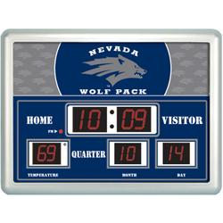 College Sports Scoreboard Wall Clock