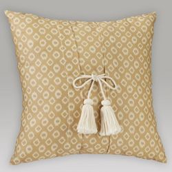Elmwood Square Pillow with Tassels