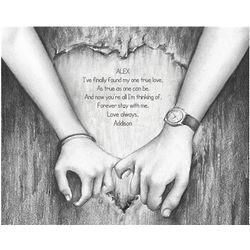 True Love Personalized Fine Art Print