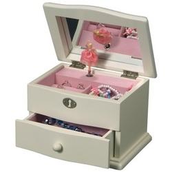 """Marianne"" Wooden Musical Ballerina Jewelry Box"
