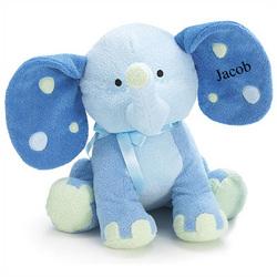 Personalized Blue Elephant Plush Toy