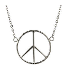 Give Me Peace Sterling Silver Necklace