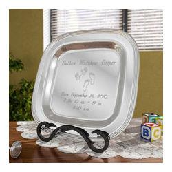 Personalized Baby Silver Plate