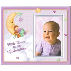 With Love to My Godmother Frame in Pink