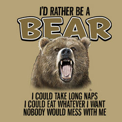 I'd Rather Be a Bear T-Shirt