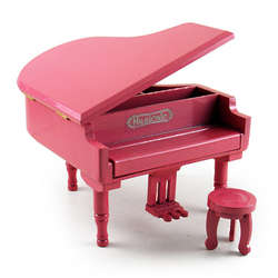 Pink Piano Musical Jewelry Box