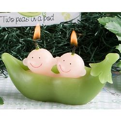 Two Peas in a Pod Baby Candle Favor