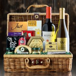 Wine and Cheese Deluxe Gift Basket