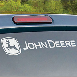 John Deere White Rear Window Graphix