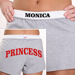 Personalized Gray You Name It Girl's Athletic Shorts
