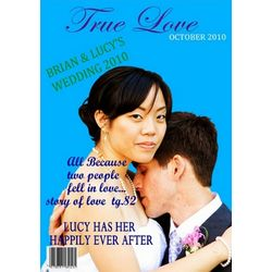 True Love Magazine Cover Personalized Print
