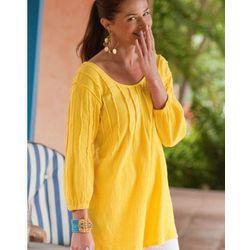 Beachy Gauze Pullover Top