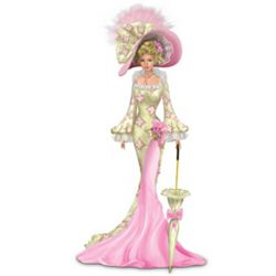 Thomas Kinkade Breast Cancer Support Victorian Woman Figurine