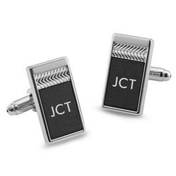 Matte Grey Tri-Tone Cuff Links
