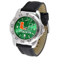 NCAA Men's AnoChrome Leather Band Sports Watch