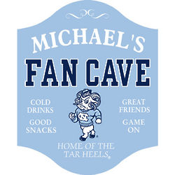 North Carolina Tar Heels Personalized Fan Cave Sign