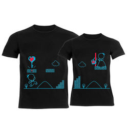 Key To My Heart His & Hers Matching Couple Black Shirts