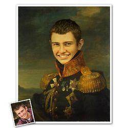 Young General Stroganov Custom Portrait Print from Photo