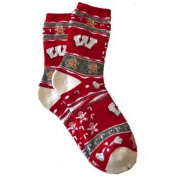 Wisconsin Badgers Ugly Christmas Socks