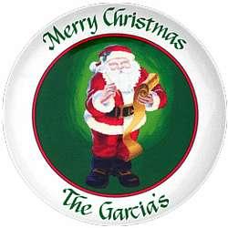 Personalized Santa Platter