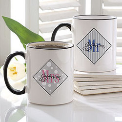 Mr. and Mrs. Collection Personalized Mug Set
