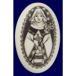 St. Brigid Porcelain Pendant