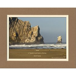 Personalized Morro Bay Rocks Photo with Verse for Teacher