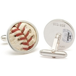 Boston Red Sox MLB Authenticated Baseball Stitches Cufflinks