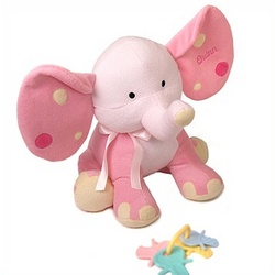 Personalized Plush Elephant Toy in Pink
