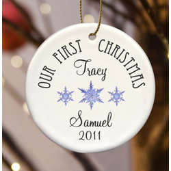 Personalized Our First Christmas Ornament