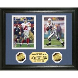 """The Brothers MVP"" Eli and Peyton Manning Super Bowl Photo Mint"